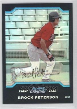 2004 Bowman Chrome Refractor #189 - Brock Peterson