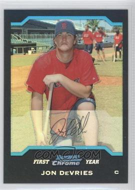 2004 Bowman Chrome Refractor #304 - Jon DeVries