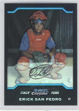 2004 Bowman Draft Picks & Prospects - Chrome - Refractor #BDP37 - Erick San Pedro
