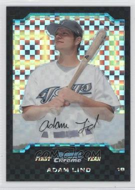 2004 Bowman Draft Picks & Prospects - Chrome - X-Fractor #BDP111 - Adam Lind /125