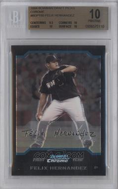 2004 Bowman Draft Picks & Prospects Chrome #BDP150 - Felix Hernandez [BGS 10]