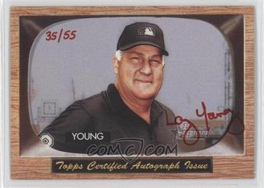 2004 Bowman Heritage - Signs of Authority - Red Ink #SA-LY - Larry Young /55