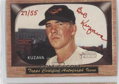 2004 Bowman Heritage - Signs of Glory - Red Ink #SG-BK - Bob Kuzava /55