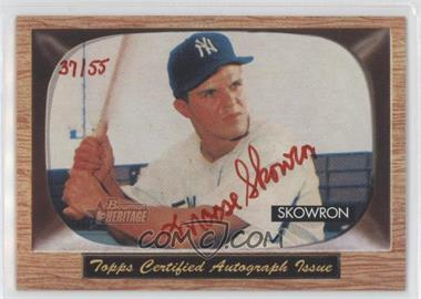 2004 Bowman Heritage - Signs of Glory - Red Ink #SG-MS - Bill Skowron /55