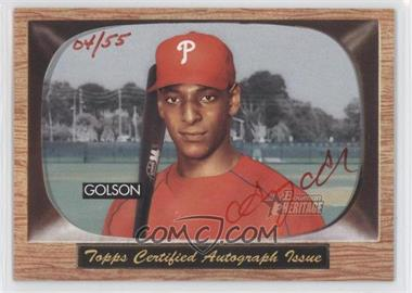 2004 Bowman Heritage - Signs of Greatness - Red Ink #SGA-GG - Greg Golson /55