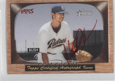 2004 Bowman Heritage - Signs of Greatness - Red Ink #SGA-MB - Matt Bush