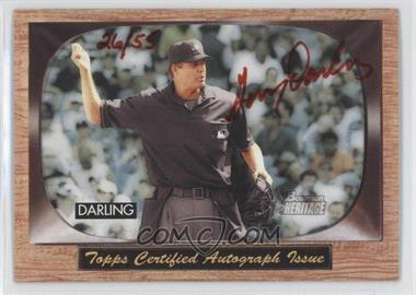 2004 Bowman Heritage Signs of Authority Red Ink #SA-GDA - Gary Daley /55