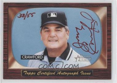2004 Bowman Heritage Signs of Authority Red Ink #SA-JC - Jerry Crawford /55