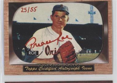 2004 Bowman Heritage Signs of Glory Red Ink #SG-PR - Preacher Roe /55