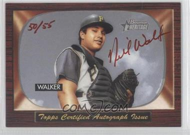 2004 Bowman Heritage Signs of Greatness Red Ink #SGA-NW - Neil Walker /55