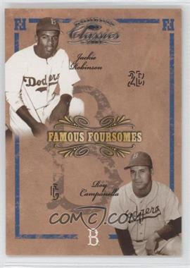 2004 Donruss Classics - Famous Foursomes #FF-78 - Jackie Robinson, Roy Campanella, Pee Wee Jenkins, Duke Snider /99