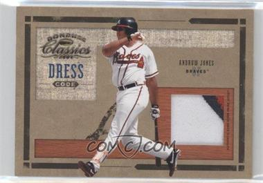 2004 Donruss Classics Dress Code Game-Worn Jersey Prime #DC-28 - Andruw Jones /25