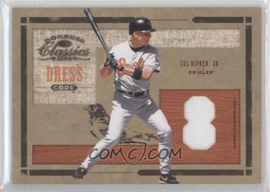 2004 Donruss Classics Dress Code Jersey Number Game-Worn Jersey #DC-34 - Cal Ripken /100