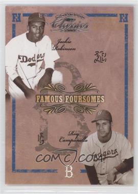 2004 Donruss Classics Famous Foursomes #FF-78 - Jackie Robinson, Roy Campanella, Pee Wee Jenkins, Duke Snider /99