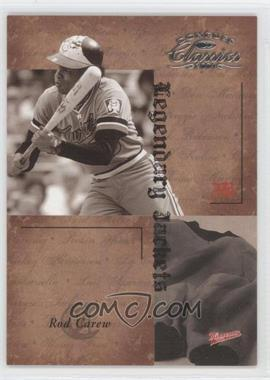 2004 Donruss Classics Legendary Jackets #LJK-33 - Rod Carew /50