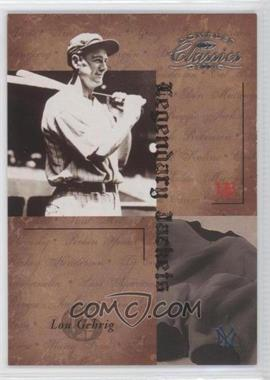 2004 Donruss Classics Legendary Jackets #LJK-50 - Lou Gehrig /50