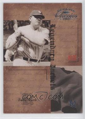 2004 Donruss Classics Legendary Jackets #LJK-59 - Babe Ruth /50