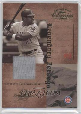 2004 Donruss Classics Legendary Jerseys Game-Worn Jersey [Memorabilia] #LJ-52 - Sammy Sosa /50