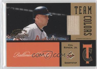 2004 Donruss Classics Team Colors Game-Used Bat #TC-27 - Cal Ripken Jr. /50