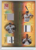 Wade Boggs, Derek Jeter, Darryl Strawberry /100