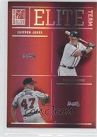 Chipper Jones, Tom Glavine, Ryan Klesko, Greg Maddux /1500