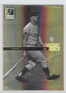 2004 Donruss Elite Passing the Torch Black #PT-28 - Roger Maris /100