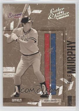 2004 Donruss Leather & Lumber - [Base] - Black & White Silver #14 - Dale Murphy /100