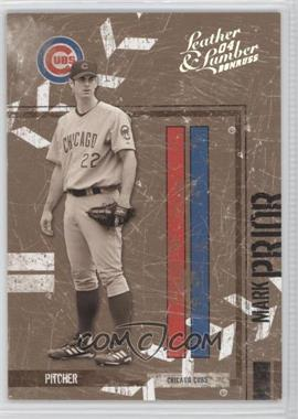 2004 Donruss Leather & Lumber - [Base] - Black & White Silver #32 - Mark Prior /100