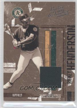 2004 Donruss Leather & Lumber - [Base] - Materials Black & White Jersey [Memorabilia] #109 - Rickey Henderson /250