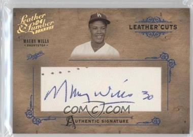 2004 Donruss Leather & Lumber - Leather Cuts - Ball #LC-49 - Maury Wills /5