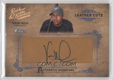 2004 Donruss Leather & Lumber - Leather Cuts - Glove #LC-39 - Vernon Wells /160