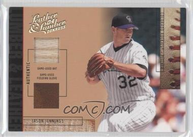 2004 Donruss Leather & Lumber - Lumber & Leather - Bat/Fielding Glove #LUL-19 - Jason Jennings /50