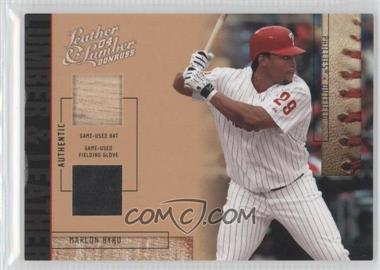2004 Donruss Leather & Lumber - Lumber & Leather - Bat/Fielding Glove #LUL-35 - Marlon Byrd /50