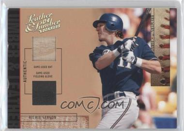 2004 Donruss Leather & Lumber - Lumber & Leather - Bat/Fielding Glove #LUL-42 - Richie Sexson /10