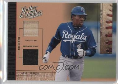 2004 Donruss Leather & Lumber - Lumber & Leather - Bat/Spikes #LUL-3 - Angel Berroa /25