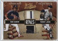 Rod Carew, Tommy John /250