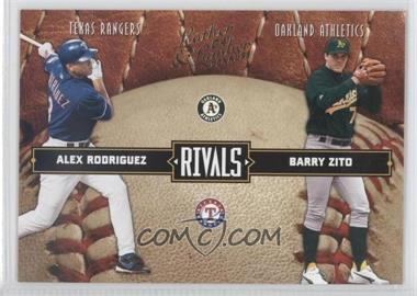 2004 Donruss Leather & Lumber - Rivals #LLR-19 - Alex Rodriguez, Barry Zito /2499