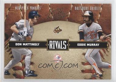 2004 Donruss Leather & Lumber - Rivals #LLR-32 - Don Mattingly, Eddie Murray /2499