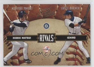 2004 Donruss Leather & Lumber - Rivals #LLR-39 - Hideki Matsui, Ichiro Suzuki /2499