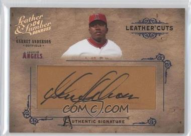 2004 Donruss Leather & Lumber [???] #LC-18 - Garret Anderson /224