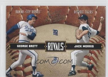 2004 Donruss Leather & Lumber [???] #LLR-10 - George Brett, Jack Morris /2499