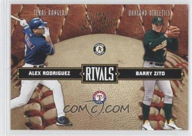 2004 Donruss Leather & Lumber [???] #LLR-19 - Alex Rodriguez, Barry Zito /2499