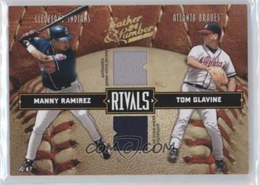 2004 Donruss Leather & Lumber [???] #LLR-22 - Manny Ramirez, Tom Glavine /250
