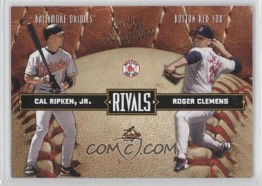 2004 Donruss Leather & Lumber [???] #LLR-36 - Cal Ripken Jr., Roger Clemens /2499