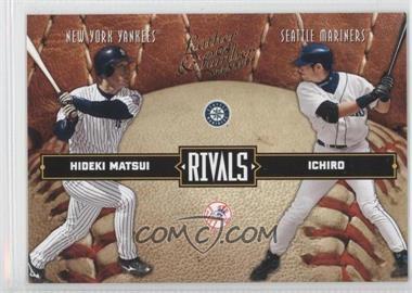 2004 Donruss Leather & Lumber [???] #LLR-39 - Hideki Matsui, Ichiro Suzuki /2499