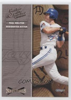 2004 Donruss Leather & Lumber [???] #N-4 - Paul Molitor /2499