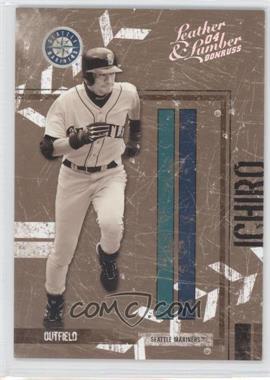 2004 Donruss Leather & Lumber Black & White Silver #130 - Ichiro Suzuki /100