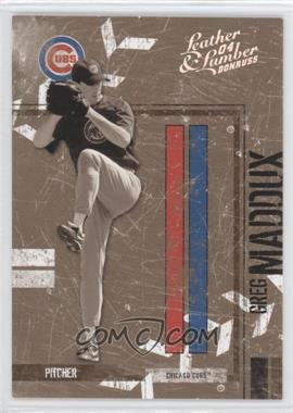 2004 Donruss Leather & Lumber Black & White Silver #30 - Greg Maddux /100