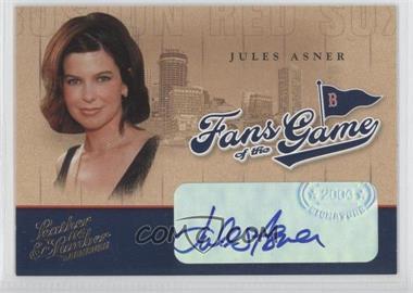 2004 Donruss Leather & Lumber Fans of the Game Autographs [Autographed] #FG-5 - Juan Ascencio