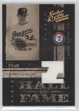 2004 Donruss Leather & Lumber Hall of Fame Materials [Memorabilia] #HF-6 - Nolan Ryan /100